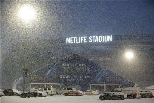 Super Bowl and snow