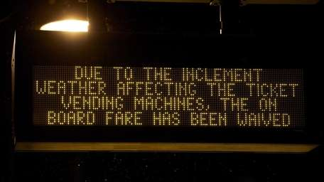 The LIRR is charging off-peak fares Wednesday and