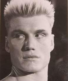 Dolph Lundgren as Ivan Drago in the movie