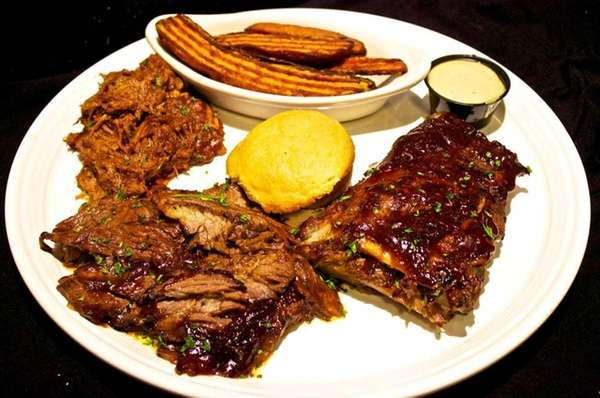 The Hazzard County BBQ platter at Road Trip