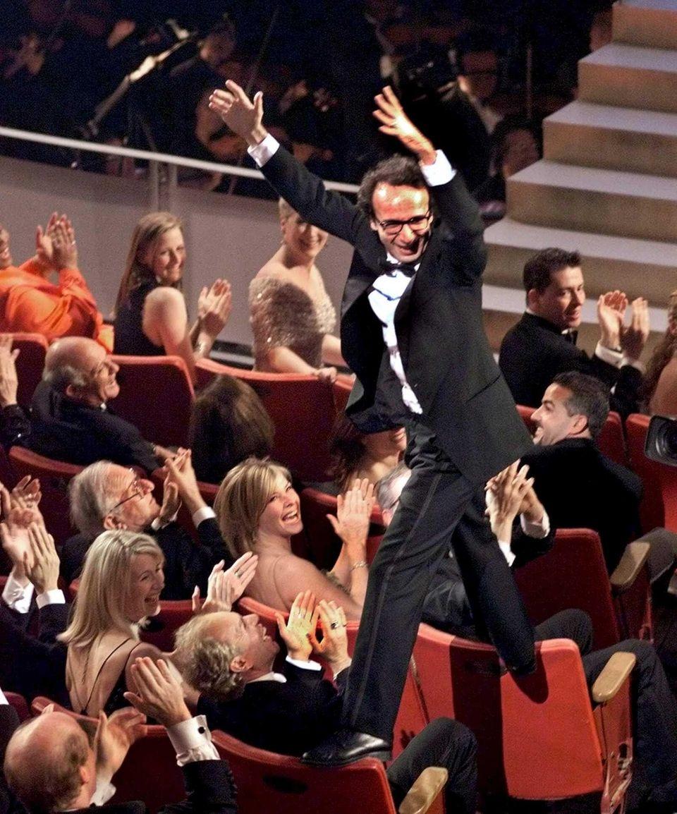 Director Roberto Benigni was walking on air --