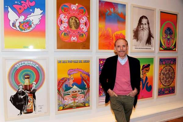 Peter Max looks almost as bright as his