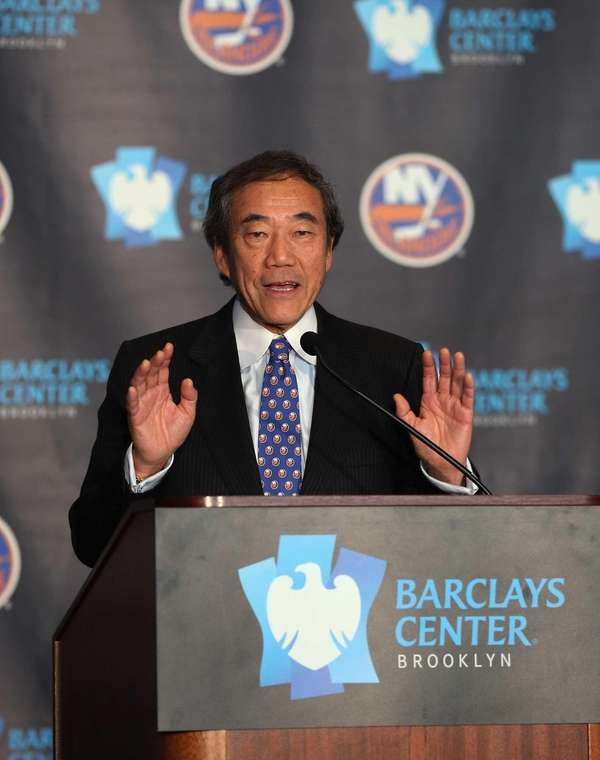 New York Islanders owner Charles Wang on Oct.