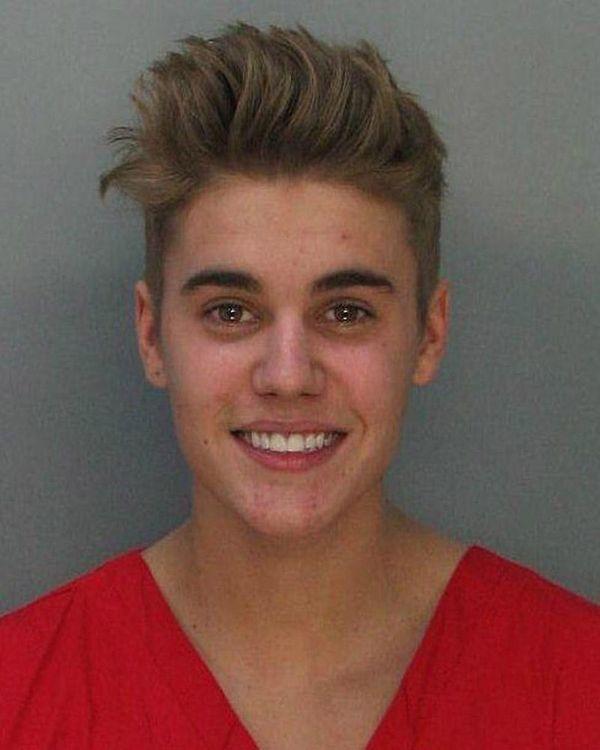 Justin Bieber's mug shot following his Jan. 23