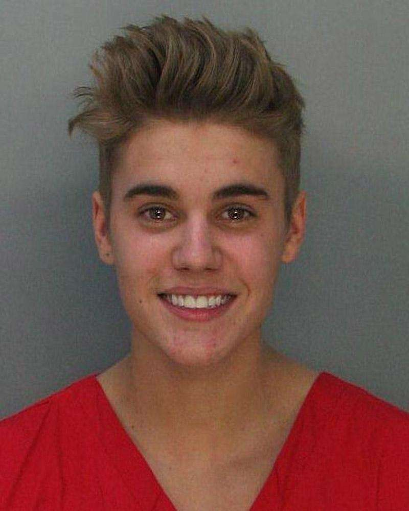 Justin Bieber's mug shot following his Jan. 23
