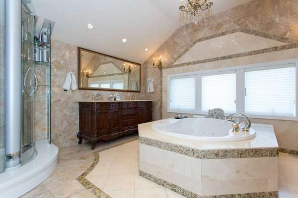 This master bath in Merrick is about 400