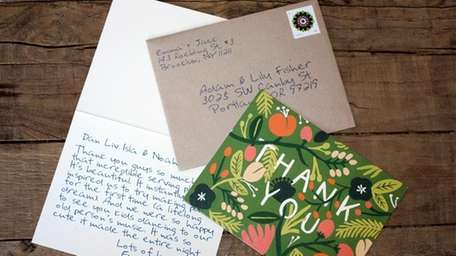 Need to write hundreds of thank-yous for guests