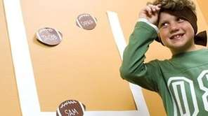 Try this wall football game with your kids,