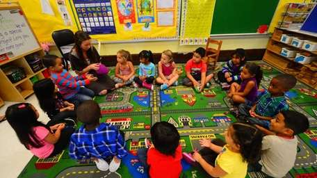 Pre-K students at Columbus Avenue Early Childhood Center.