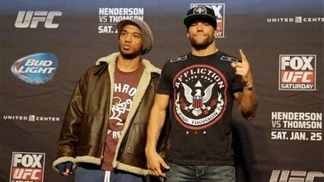 UFC lightweights Benson Henderson, left, and Josh Thomson