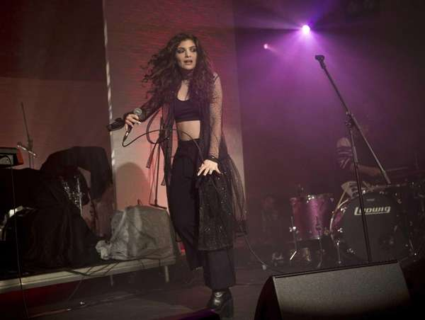 Lorde performs during the Vevo Halloween Concert at