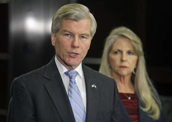 Former Virginia Gov. Bob McDonnell makes a statement