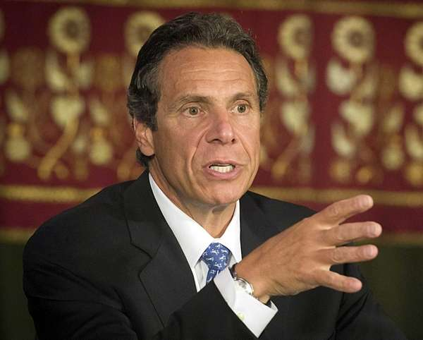 New York State Governor Andrew Cuomo at the