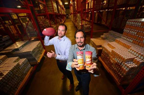 La Flor Spices' general manager, Justin Latorre, left,