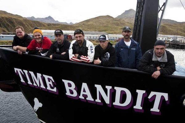 Time Bandit Captain Johnathan Hillstrand, center, and his