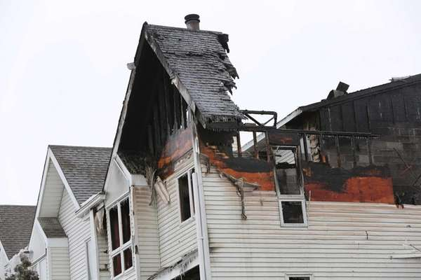Fire tore through a town-house complex at 154