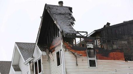 Fire tore through a town-house complex at 154