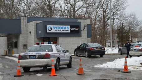 Suffolk County police are investigating a reported bank