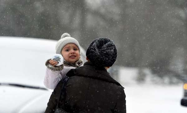 Georgetta Reszko, 2, is shown in the snow