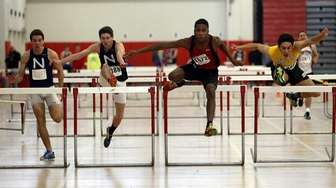 Half Hollow Hills East's Sam Chimezie, second from