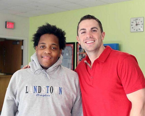 David Wright with Brandon Kemp. (2013)