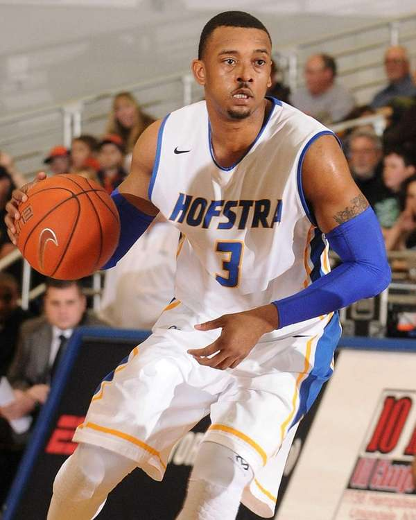 Hofstra University guard Zeke Upshaw looks to make