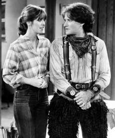 Pam Dawber and Robin Williams on the series