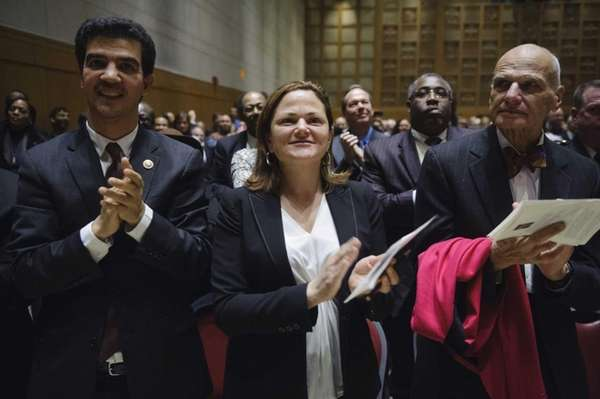 City Council Speaker Melissa Mark-Viverito, center, and Council