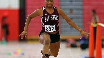 Bay Shore's Anissa Toppin won the triple jump