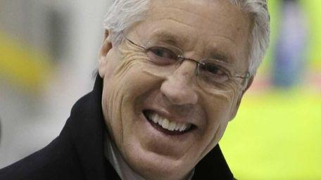 Seattle Seahawks head coach Pete Carroll smiles after
