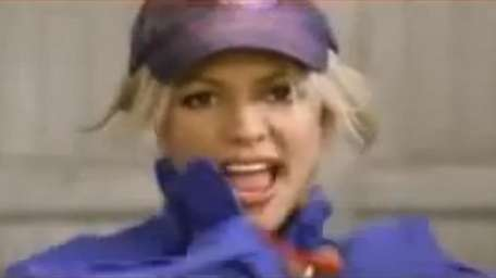 Britney Spears in her Pepsi commercial for Super