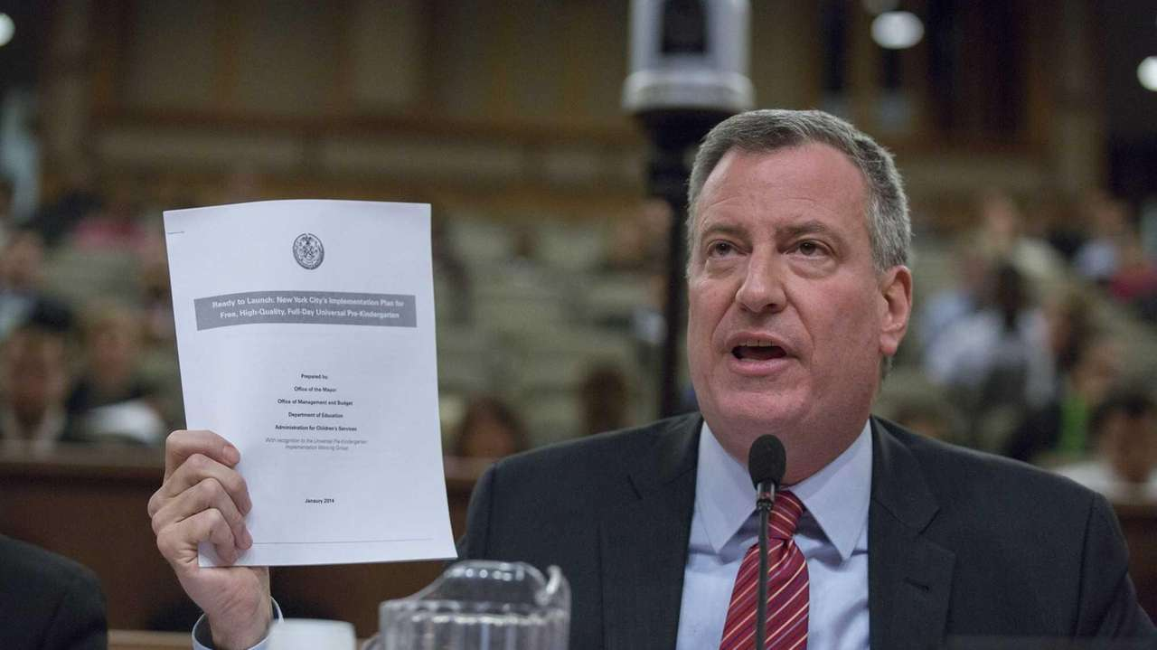 New York City Mayor Bill de Blasio answers