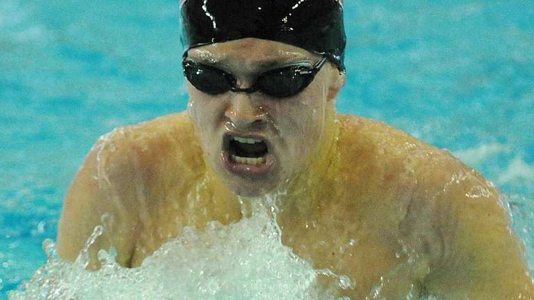 Michael Mattera of Half Hollow Hills competes in