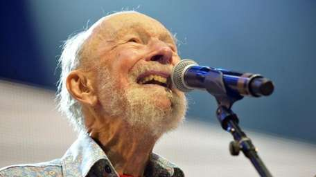 Pete Seeger is seen on Sept. 21, 2013.