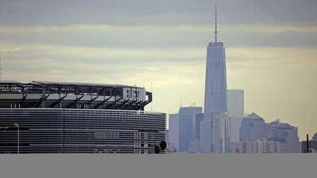 MetLife Stadium is seen in the foreground before