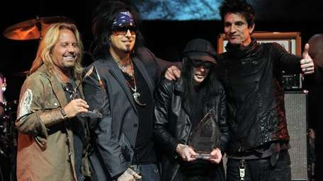 Motley Crue -- from left, Vince Neil, Nikki