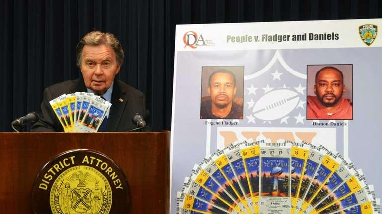 Queens District Attorney Richard Brown on Jan. 28,