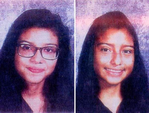 Cindy Garcia, 15, left, and Elizabeth Garcia Gamez,