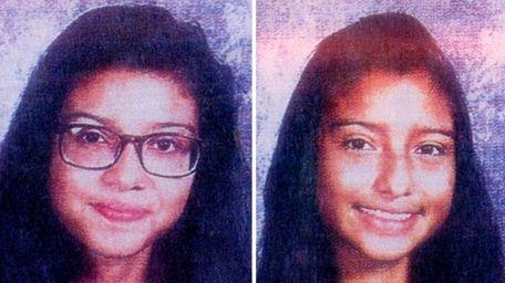 Cindy Garcia, 15, left, and Elizabeth Garcia Gamez,