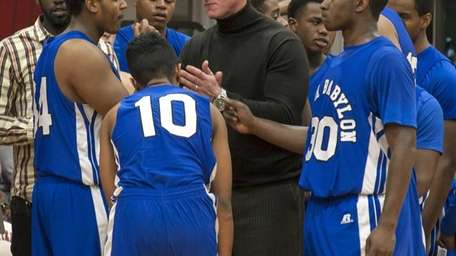 North Babylon's Boys Baskeball head coach Brendan McCaffrey