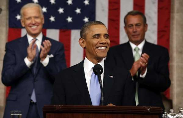 President Barack Obama delivers the State of Union