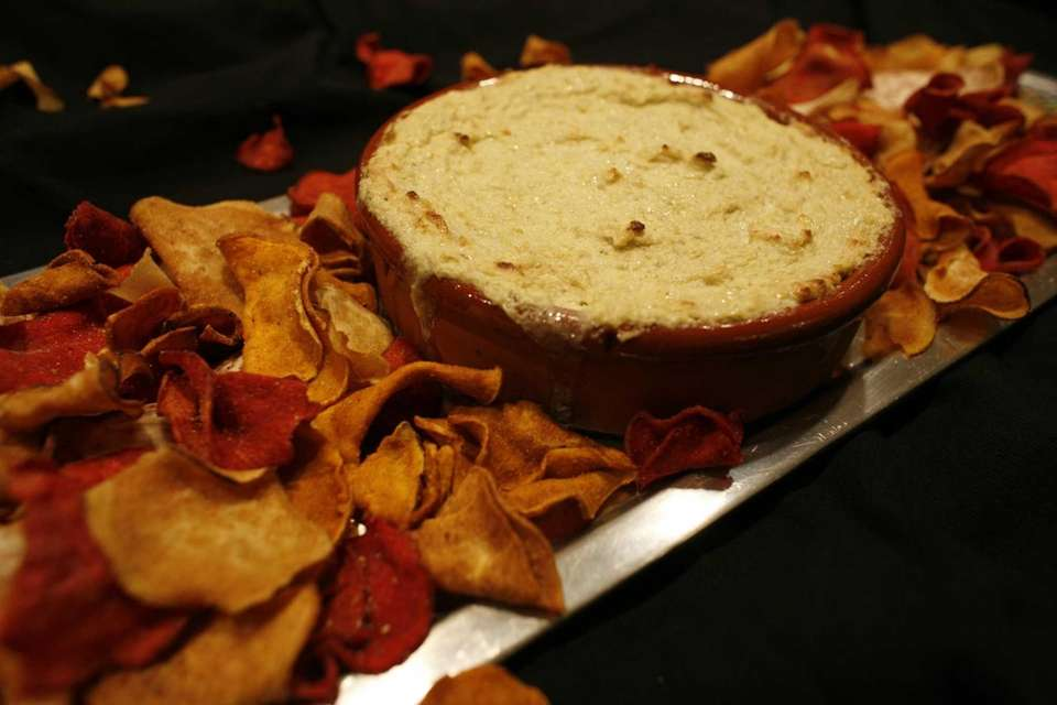 This dip is delicious unbaked. Crabmeat and