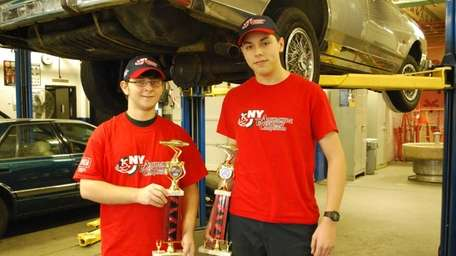 Matthew Uricchio, left, and Kevin Donaldson, Smithtown High