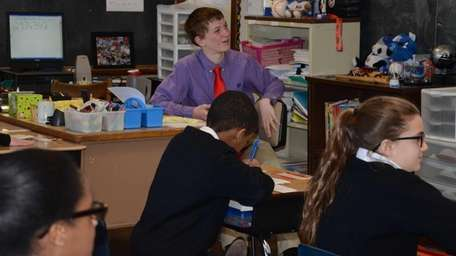 St. Christopher School eighth-grader Sean Callaghan, 14, of