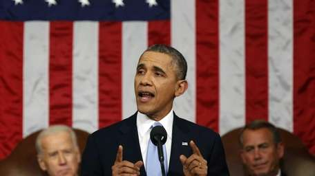U.S. President Barack Obama delivers the State of