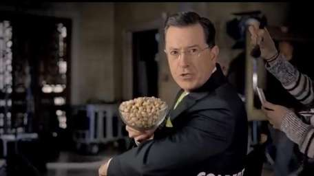 Stephen Colbert pitches Wonderful Pistachios in a Super