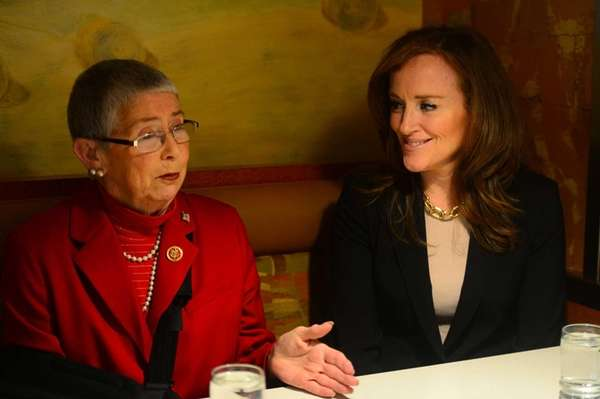 Rep. Carolyn McCarthy, left, and Nassau County District