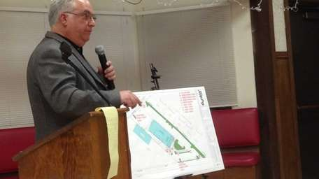 Architect Steven Cataldo presents plans for a drive-up