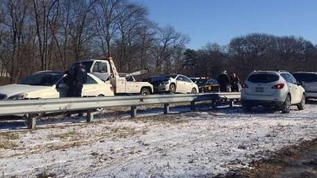 A crash Thursday morning, Jan. 30, 2014, near