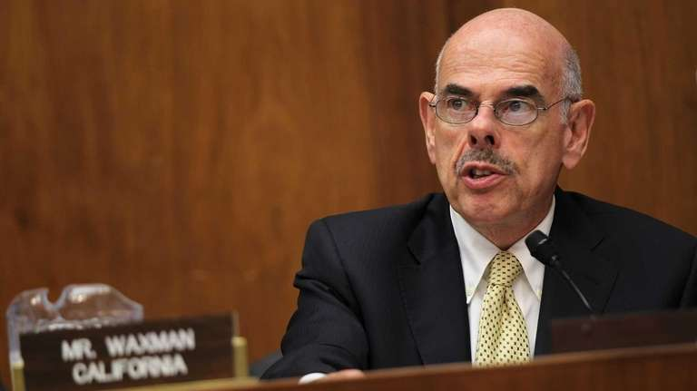 Rep. Henry Waxman speaks during a hearing before